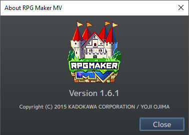 RPG Maker MV version 1.6.1